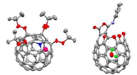 该课题组合成了一系列不同结构的富勒烯过氧化物